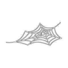 spiderweb halloween decorative icon