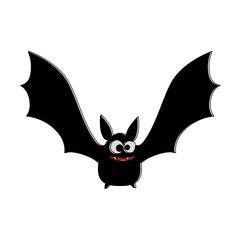 vampire black flying icon