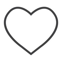 Heart line icon, web and mobile, love sign vector graphics, a linear pattern on a white background, eps 10.