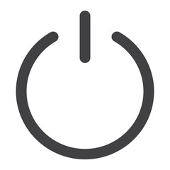 Power glyph icon, web and mobile, push sign vector graphics, a solid pattern on a white background, eps 10.