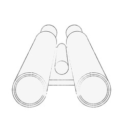 binocular frontview icon image vector illustration design