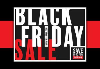Black Friday Sale Social Media Post Layout 1