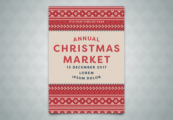 Annual Christmas Market Poster Layout 2