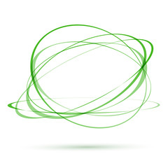fresh green tornado moving swing swirl abstract ellipses