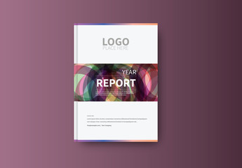 Abstract Book/Report Cover Layout 27