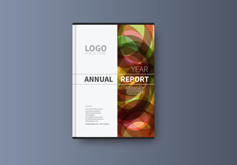 Abstract Book/Report Cover Layout 28