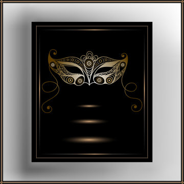 Graphic illustration with a decorative mask 1