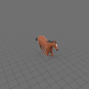 Stylized horse running