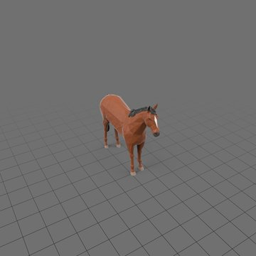 Stylized horse standing