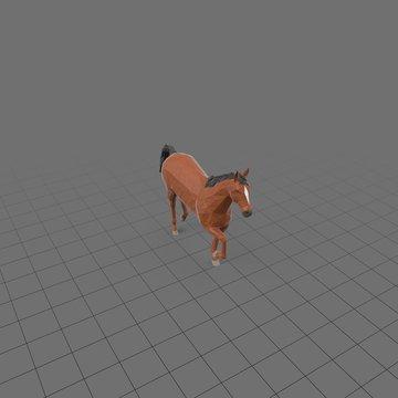 Stylized horse walking