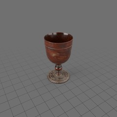 Antique wood goblet