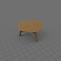 Round wood coffee table 2