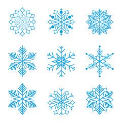 Snowflake winter design season december snow celebration ornament vector illustration