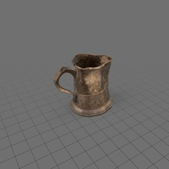 Bent pewter mug