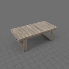 Rectangle wood coffee table