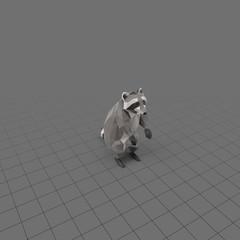Stylized raccoon upright