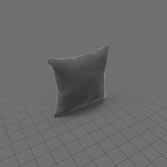 Grey square throw pillow