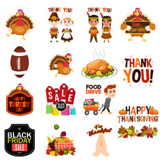 Thanksgiving Cliparts Illustrations Icons