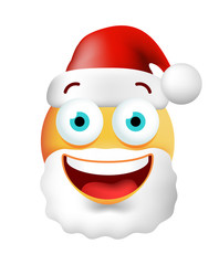 Christmas Time . Very Happy Cute Emoticon on White Background. Isolated Vector Illustration