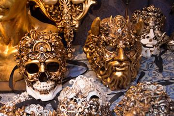 Masks for the Venetian Carnival, a souvenir shop in Venice, Italy