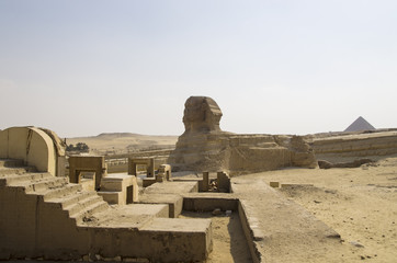 The Great Sphinx in Giza, landscape