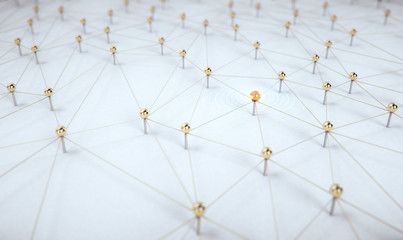 3d render social network,leadership and communication as concept.