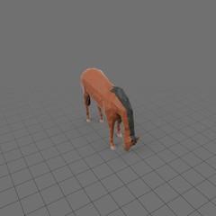 Stylized horse eating