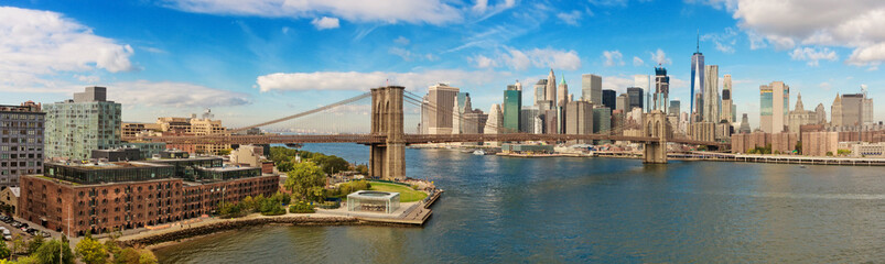 Photo sur Aluminium Brooklyn Bridge Brooklyn Bridge and Cityscape of New York