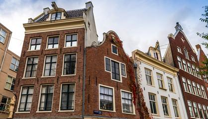Façades à Amsterdam, Hollande aux Pays-Bas