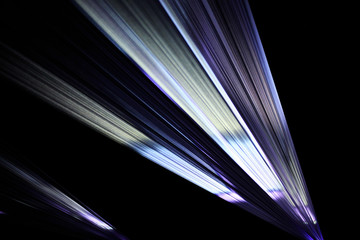 Colorful light beam from a video projection