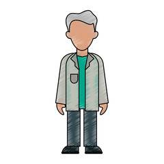 Doctor avatar cartoon icon vector illustration graphic design