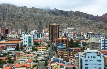 Cityscape of La Paz in Bolivia
