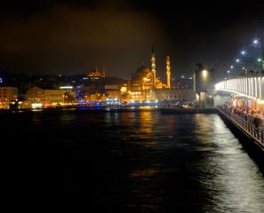 Night view of the Bosphorus Strait