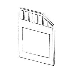 Micro sd storage icon vector illustration graphic design