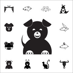 cute dog icon. Set of animal icons. You can use in web or app icons