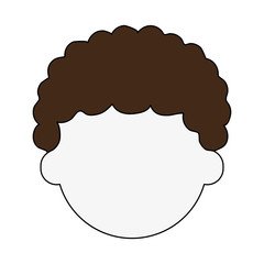 man with curly hair avatar head icon image vector illustration design
