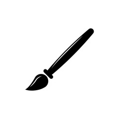 paint brush icon. Vector graduation Icon. Education, academic degree. Premium quality graphic design. Signs, outline symbols collection, simple icon for websites, web design, mobile app