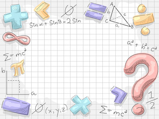 Math Symbols Numbers Background Illustration