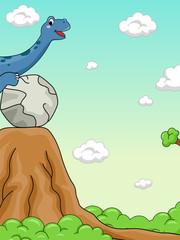 Dinosaur Potential Energy Illustration