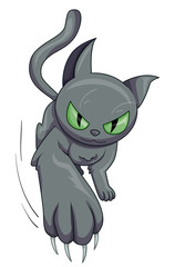 Gray Cat Scratch Claw