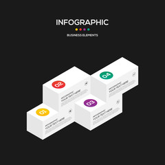 Infographics business marketing report template layout design