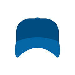 Blue plumber cap isolated. Serviceman hat. Vector illustration.