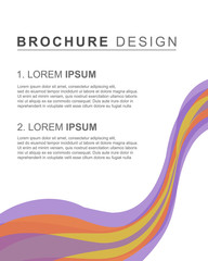 Brochure template cover design background