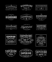 Vintage Logo, Insignia and Badge Bundle 3. perfect for identity, logo, insignia or badge design with retro vintage looks. it is also good for print design such clothing line, merchandise etc