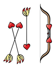 Cupid's Bow and Arrows