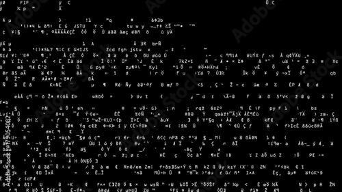 Code Scramble Overload  Full screen saver graphic loop as complex
