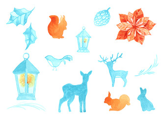 forest animals in winter