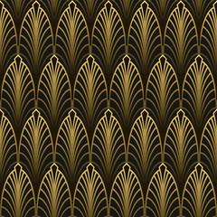 Art Deco style seamless pattern golden texture