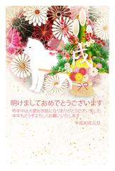 戌 年賀状 菊 背景