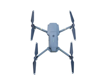 Top view of Drone Isolated